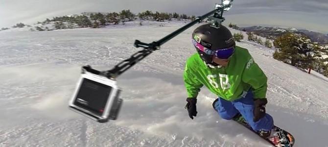 GoSpin360  – סטנד מסתובב למצלמת GoPro להתקנה על קסדה